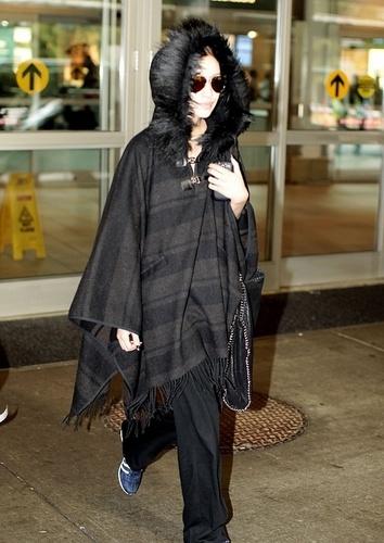 02.04 - Christian Serratos at Vancouver airport