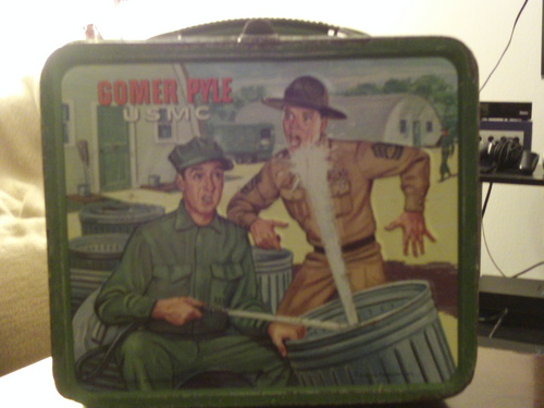 Lunch Boxes wallpaper called 1966 Gomer Pyle Lunch box