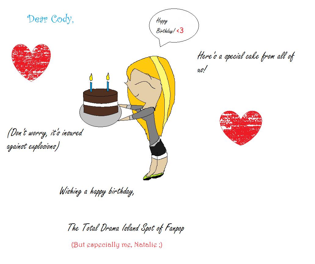 A birthday card - Total Drama Island Fan Art (20636200) - Fanpop