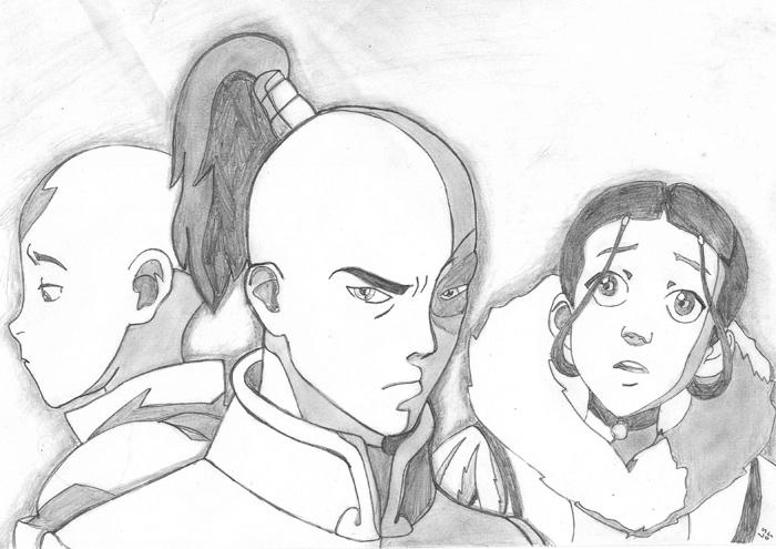 avatar katara and zuko. Aang Zuko and Katara