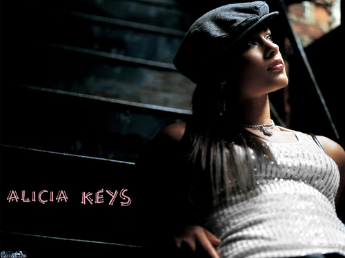 Alicia Keys wallpaper possibly with a sign titled Alicia Keys