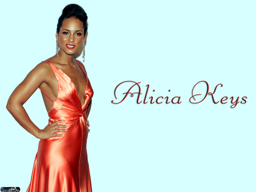 Alicia Keys wallpaper probably containing a dinner dress, a gown, and a strapless entitled Alicia Keys
