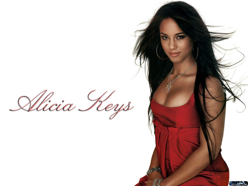 alicia keys wallpaper probably with a koktil, koktail dress, a chemise, and a portrait entitled Alicia Keys