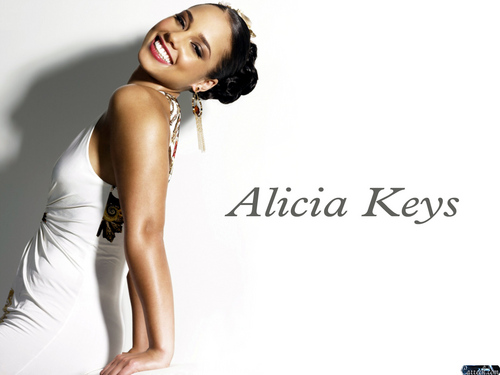 Alicia Keys wallpaper probably containing attractiveness, a bustier, and a cocktail dress called Alicia Keys