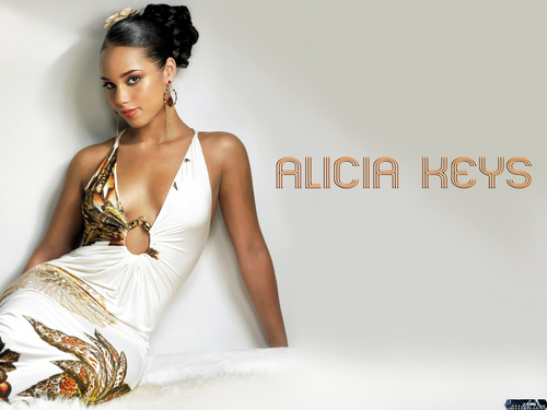 Alicia Keys wallpaper probably with a dinner dress and a cocktail dress entitled Alicia Keys