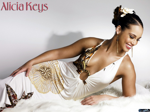 alicia keys wallpaper probably containing a bouquet, a makan malam dress, and a koktil, koktail dress entitled Alicia Keys