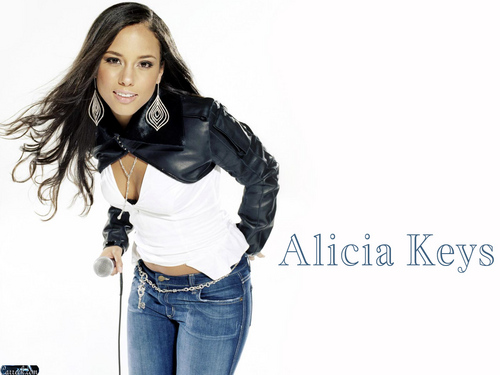 Alicia Keys wallpaper possibly containing an outerwear, bellbottom trousers, and a pantleg entitled Alicia Keys