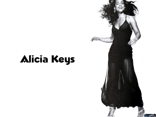 Alicia Keys wallpaper possibly containing a cocktail dress titled Alicia Keys