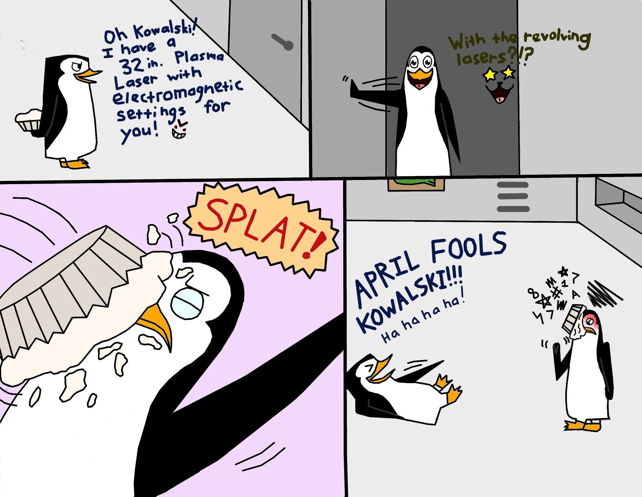 Happy April Fools Day, Kowalski! - Penguins of Madagascar Fan Art ...