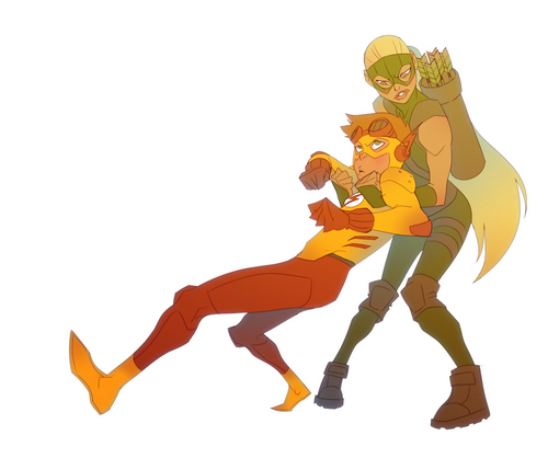 Justicia Joven fondo de pantalla entitled Artemis & Kid Flash