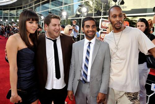 Aubrey, Jonah Hill, Aziz Ansari & RZA @ 'Funny People' Premiere - 2009