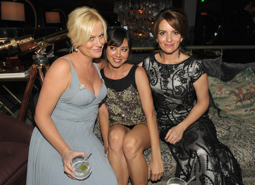 Aubrey with Amy Poehler & Tina Fey @ AMC Hosts A 62nd Annual EMMY Awards After Party - 2010