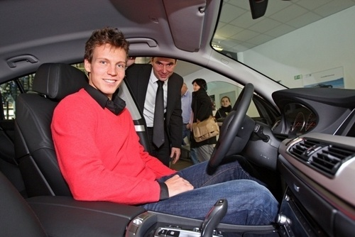 photo of Tomas Berdych BMW - car