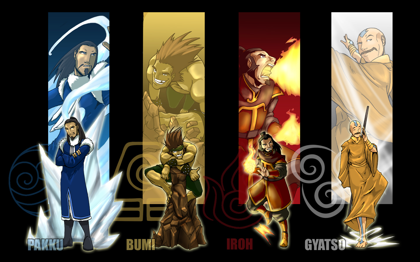 Avatar the last airbender bending master wallpaper by erikonil