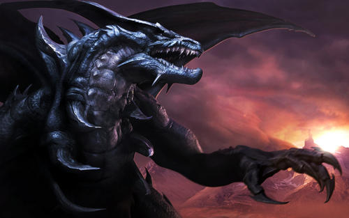 Dragons achtergrond titled Black Dragon