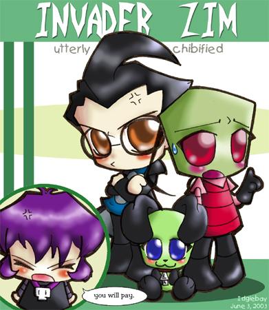 Chibi Invader Zim characters!