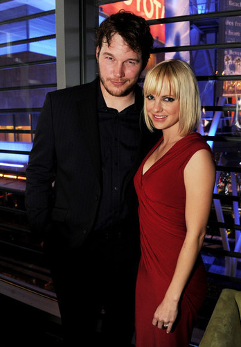 Chris Pratt & Anna Faris @ 'Take Me Home Tonight' Premiere - After Party - 2011