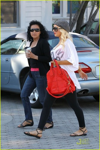 Christina out in Santa Monica