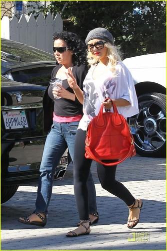 Christina out in Santa Monica