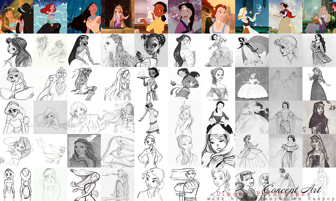 डिज़्नी Princesses - Concept Art