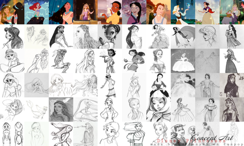 putri disney wallpaper entitled disney Princesses - Concept Art