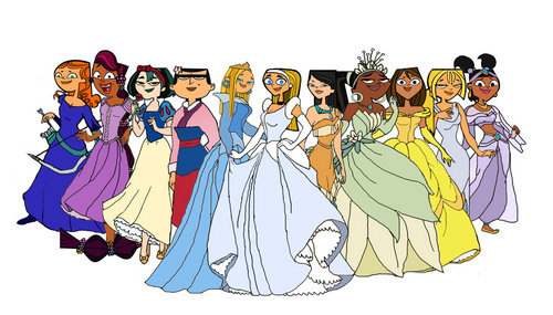 Total Drama Island wallpaper probably with anime titled Disney Total Drama Princess