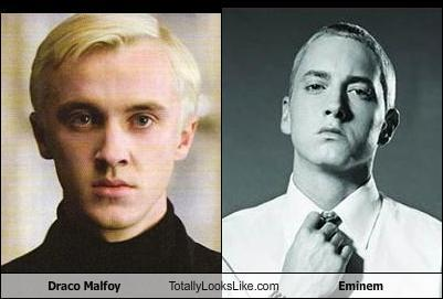 Draco Malfoy totally looks like Eminem