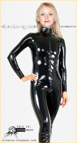 Гарри Поттер Обои possibly containing a playsuit, a hip boot, and a legging called Evana Lynch Catsuit