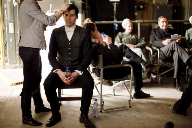 Filming series 1 Downton Abbey