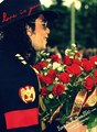 Flowers for me? Thank's Mike!! rsrsrs - michael-jackson photo