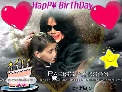 HAPPY 13TH BIRTHDAY PARIS