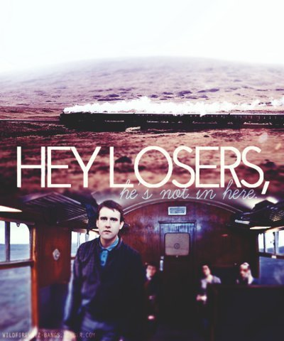 hallo LOSERS,he's not in here!