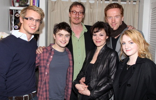 HP cast attend Daniel Radcliffe's 'How to Succeed' Sunday show