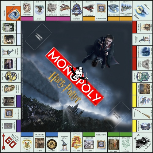 Harry Potter vs Twilight fond d'écran titled Harry potter Monopoly