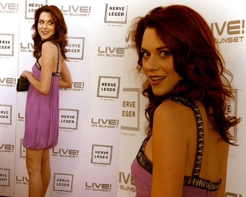 Hilarie at Herve Leger দ্বারা Max Azria Collection Launch Party