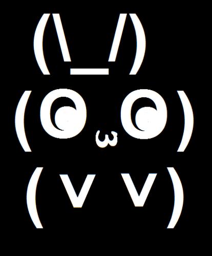 I made a bunny! :D