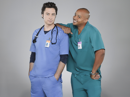 Scrubs wallpaper possibly containing a workwear, a well dressed person, and a work clothing entitled J.D. & Turk