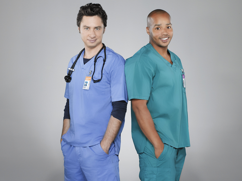 Scrubs wallpaper possibly with a workwear, a well dressed person, and a work clothing entitled J.D. & Turk