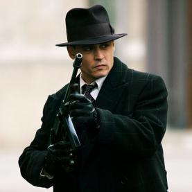 Serial Killers wallpaper probably containing a rifleman, a fedora, and a green beret entitled Johnny Depp as John Dillinger
