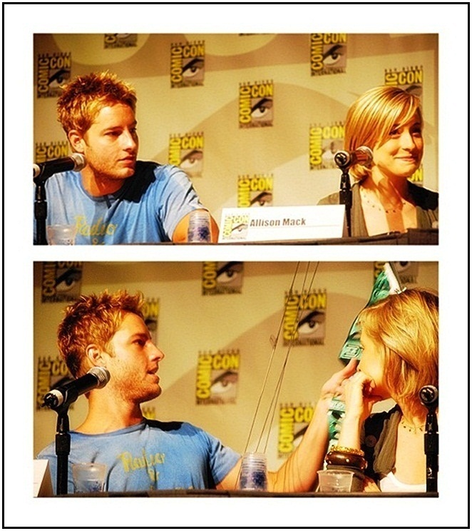 Justin Hartley & Allison Mack