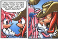 Knuckles and Julie-Su Kissing <3