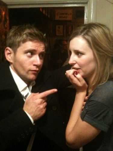 Laura Carmichael and Allen Leech