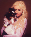 Lovely Christina and a beautiful puppy