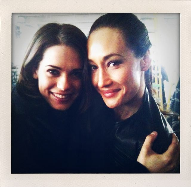 Photo of Lyndsy Fonseca & her friend   Maggie Q - Los Angeles