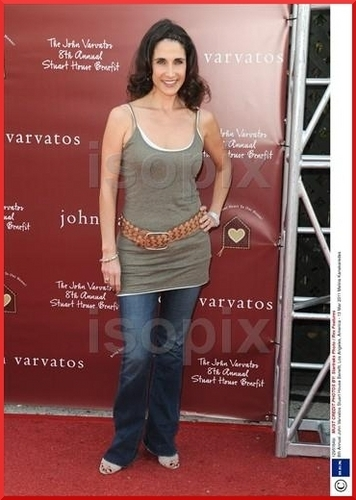Melina Kanakaredes arriving at the John Varvatos 8th Annual