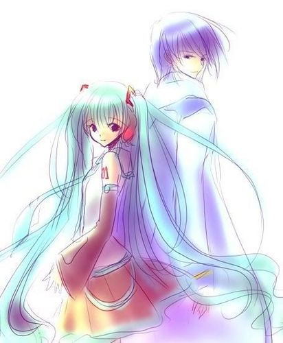 Miku X Kaito - vocaloid Fan Art