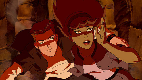 in young justice wallpaper called Miss Martian & Kid Flash