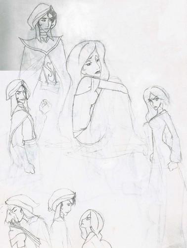 Mozenrath and jasmim sketches