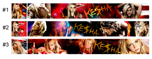 New banner and icon for the Ke$ha spot (First look)