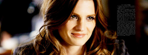 Kate Beckett karatasi la kupamba ukuta containing a portrait entitled One Life to Lose <3